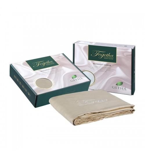 Getha Bedsheet - Tencel Nano Silver Fabric (King Size) - Champagne Color