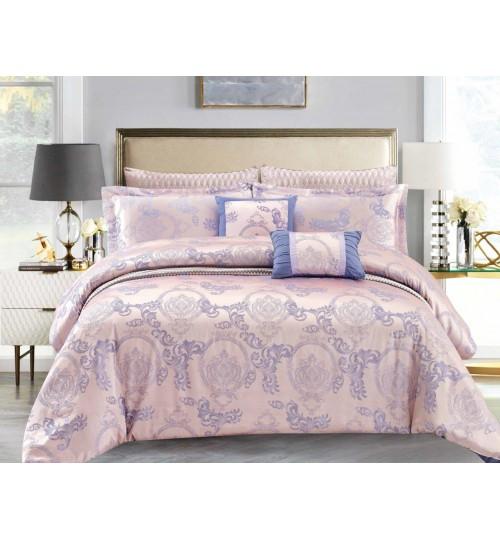 Chester London Silky Jaquard 7pcs Comforter Set Manju Gold (Queen Size)