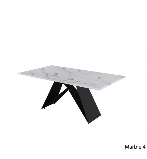 Rectangle Marble Table with A Metal Leg ( 180cm )