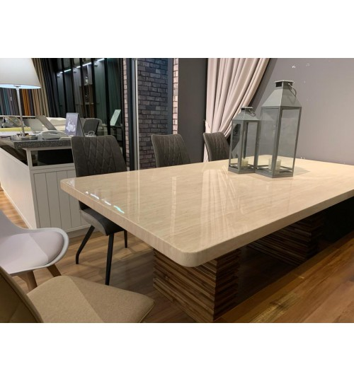 Rectangle Marble Table BRE-5 210 CM ( Off-Season Clearance )