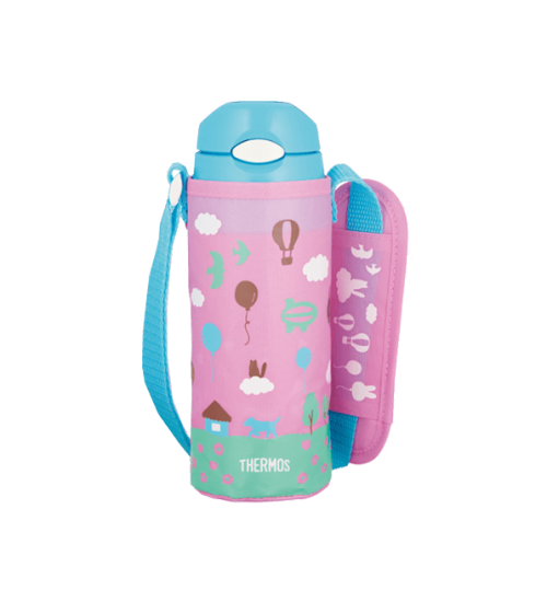 Thermos 0.4L FHL-401 Ultra Light Straw Bottle with Pouch