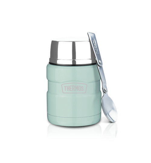 Thermos 0.47L Stainless Steel King Food Jar with Spoon