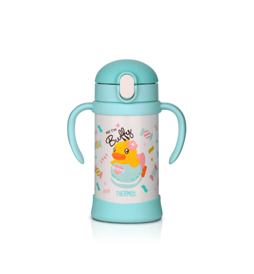 Thermos 0.35L FHV-350 B-Duck Straw Cup with Handle