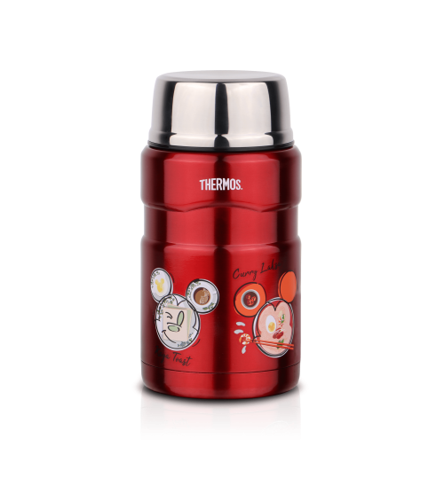 Thermos 0.71L SK-3021 Mickey Go Local Stainless King Food Jar with Spoon