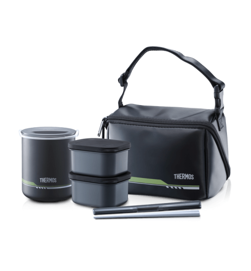Thermos 1.0L DBQ-502 Series Hygienic Food Container with Chopstick & Pouch