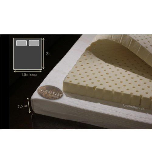 GETHA FULL LATEX TOPPER 7.5CM THICKNESS ( EXPORT SPECS ) ( KING SIZE )